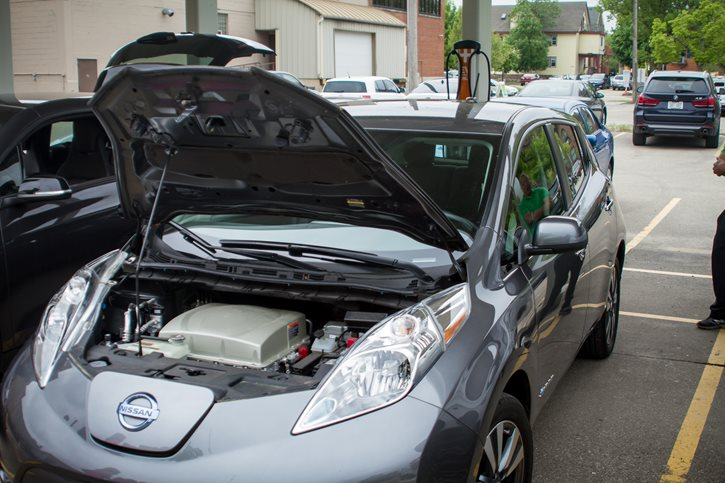 The all-electric Nissan LEAF
