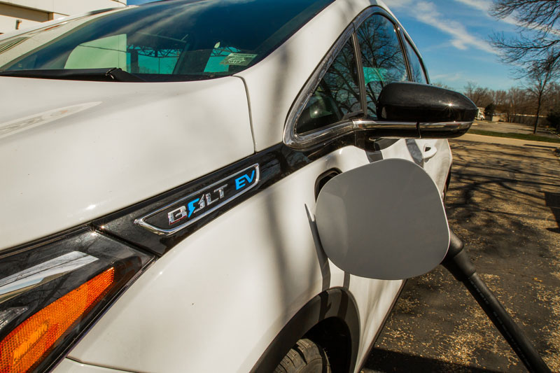 A Chevy Bolt EV charging
