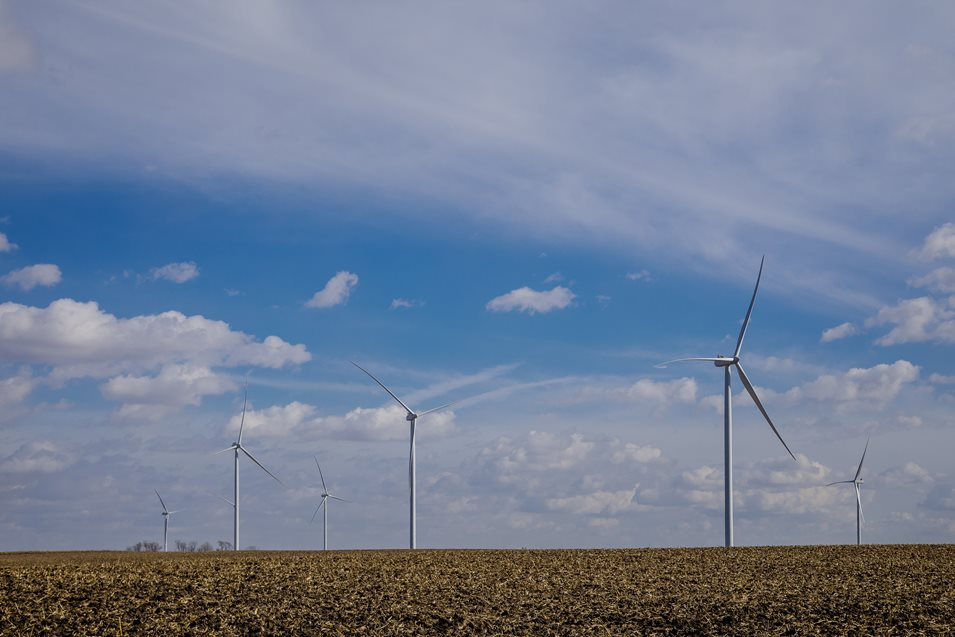 MGE's Saratoga wind farm in northeast Iowa