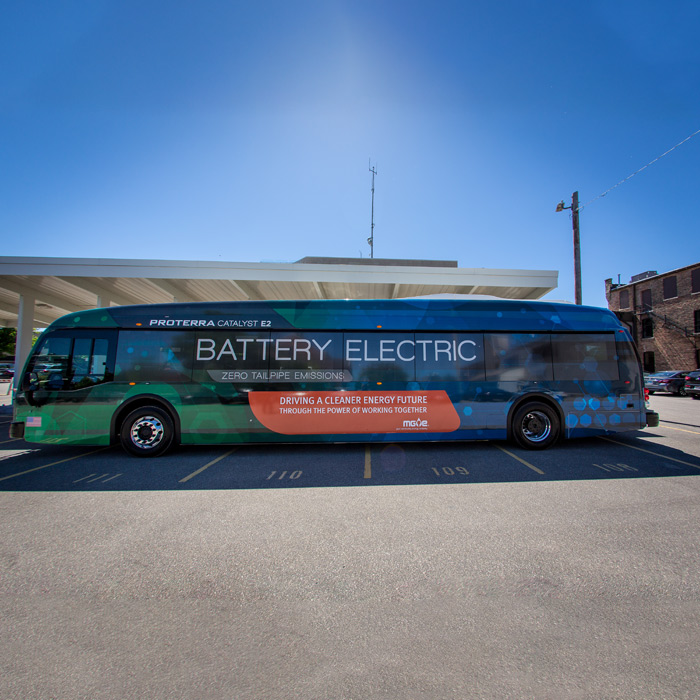 Electric Bus Visits Madison