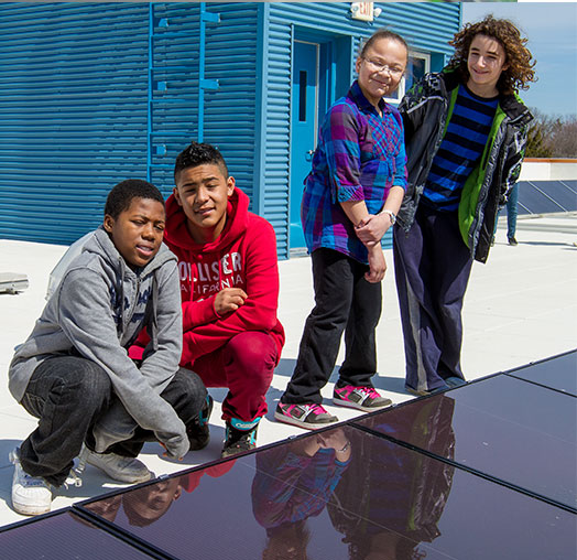 Solar Garden at Badger Rock Middle School
